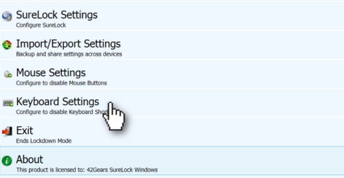 SureLock for Windows 7, 8 and 10 Product Manual
