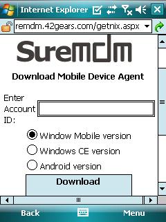 SureMDM Get Nix Screen
